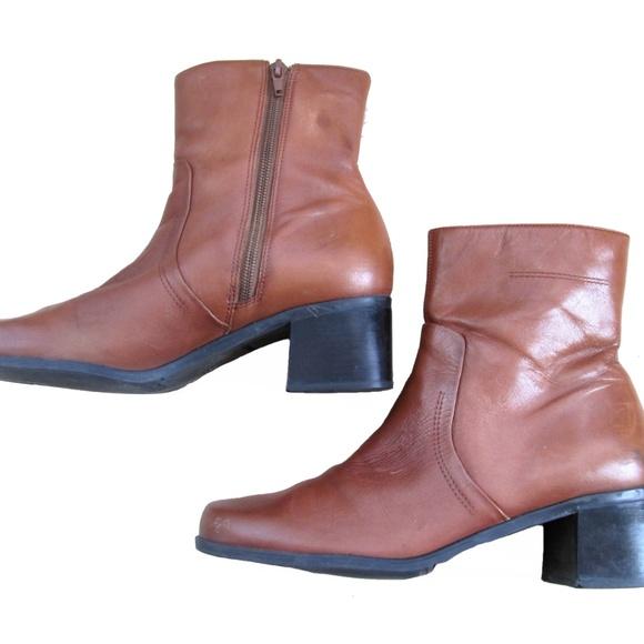 Naturalizer Tan  Braun Leder Ankle Stiefel 10m  Tan  Poshmark 939048